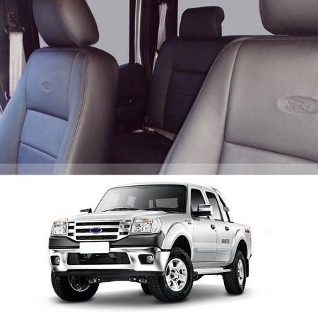 Revestimento-Banco-Couro-Ford-Ranger-CD-2005-a-2012-Preto-100por-cento-Couro-Legitimo-Interico-16-pecas-connectparts--1-
