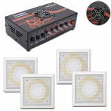Kit-Amplificador-Trinity-Turbo-Dance-300w-Rms-Preto---4-Arandelas-100w-Rms-Branca-Som-Ambiente-connectparts---1-