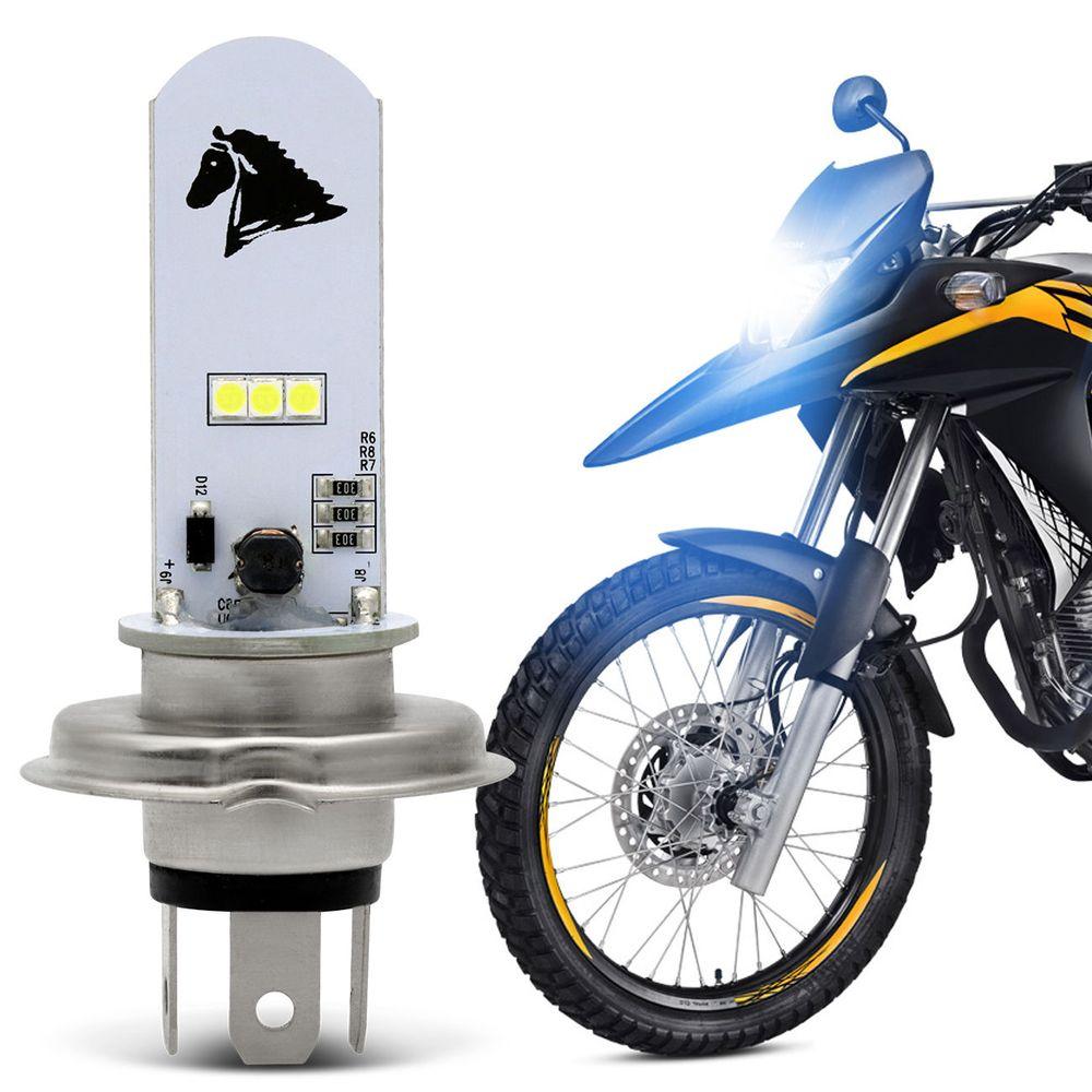 59d91e61cdd Lâmpada Super LED Honda XRE 300 2010 A 2019 H4 8000K 35W Luz Azulada Farol  Alto ou Baixo