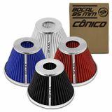 Filtro-de-Ar-Esportivo-Tunning-DuploFluxo-85mm-Conico-Lavavel-Shutt-Base-Cromada-Maior-Potencia-connectparts--1-