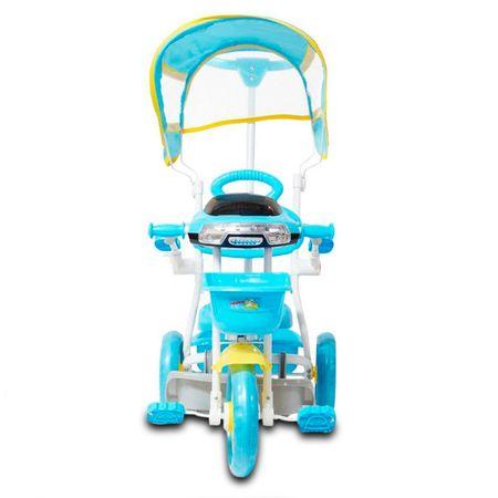 Triciclo-Infantil-Azul-2-Em-1-Haste-Para-Empurrar-E-Pedal-Duas-Cestas-Toca-Musica-Acende-Farol-connectparts--3-