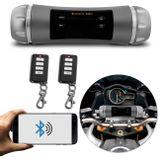 Caixa-Som-Bluetooth-para-Moto-Universal-com-Alarme-aprova-a-agua-USB-Auxiliar-Radio-cinza-Controle-connectparts--1-