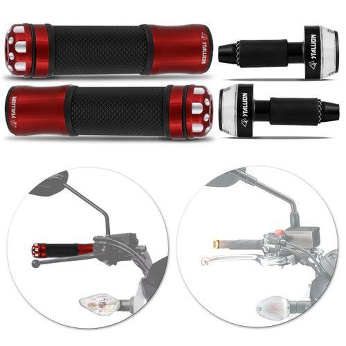 Manopla-Esportiva-Guidao-Moto-Aluminio-Universal-Vermelho---Peso-de-Guidao-com-Pisca-Acrilico-Preto-connectparts---1-