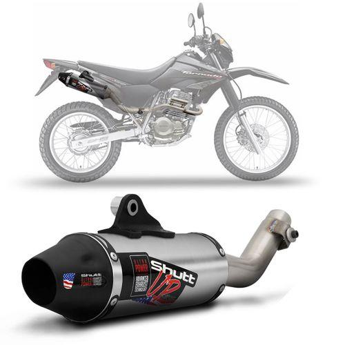 Escapamento-Esportivo-Shutt-Up-Series-Honda-XR-250-Tornado-04-05-06-07-08-Aco-Inox-com-Ponta-Prata-Escovado-Moto-connectparts--1-