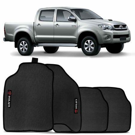 Jogo-Tapete-Borracha-Pvc-Toyota-Hilux-2005-A-2014-Preto-4-Pecas-connectparts--1-