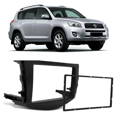 Moldura-Do-Painel-2Din-Dvd-Multimidia-Toyota-Rav4-Preta-2006-A-2012-Japones-Chines-connectparts--1-