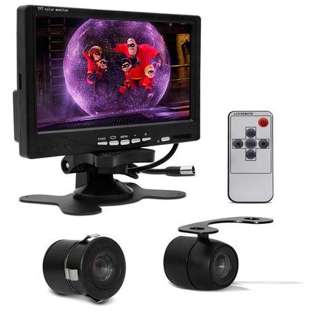 Kit-Tela-Monitor-LCD-Portatil-7-Com-Controle-Remoto---Mini-Camera-Re-Dlux-Colorida-2-em-1-Preta-connectparts---1-
