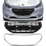 Grade-Dianteira-Central-Peugeot-208-2013-2014-2015-2016-Preta---Friso-Cromado-connectparts---1-