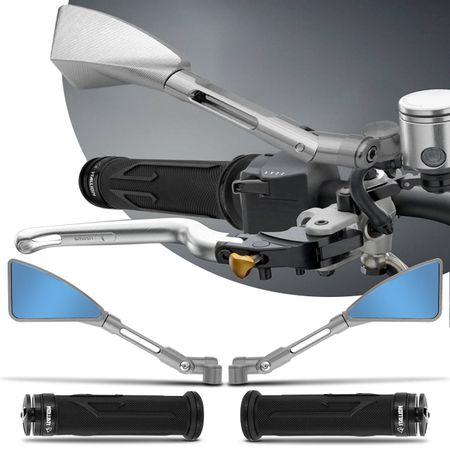 Retrovisor-Moto-Esportivo-Triangular-Tipo-Rizoma-Aluminio-Inteiro-Prata---Manopla-Preta-connectparts--1-