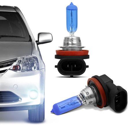 Kit-10-Lampadas-Super-Branca-H9-8500K-55W-12V-Efeito-Xenon-connectparts---2-