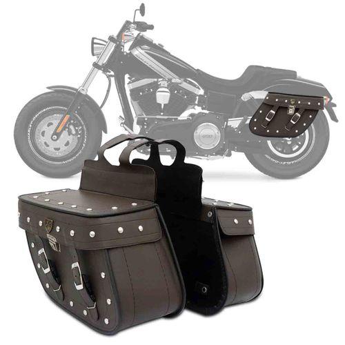 Bolsa-Alforje-Par-Lateral-Losango-Moto-Universal-Couro-Ecologico-Marrom-Cravos-e-Chave-32-Litros-connectparts---1-