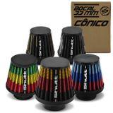 Filtro-de-Ar-Esportivo-Moto-Tunning-MonoFluxo-33mm-Conico-Lavavel-Especial-Shutt-Borracha-Potencia-connectparts---1-