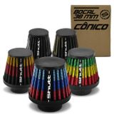 Filtro-de-Ar-Esportivo-Moto-Tunning-MonoFluxo-38mm-Conico-Lavavel-Especial-Shutt-Borracha-Potencia-connectparts---1-