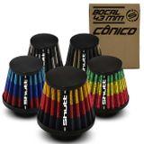 Filtro-De-Ar-Esportivo-Mono-Fluxo-43mm-Conico-Lavavel-Especial-Shutt-Base-Borracha-Potencia-Tuning-connectparts---1-