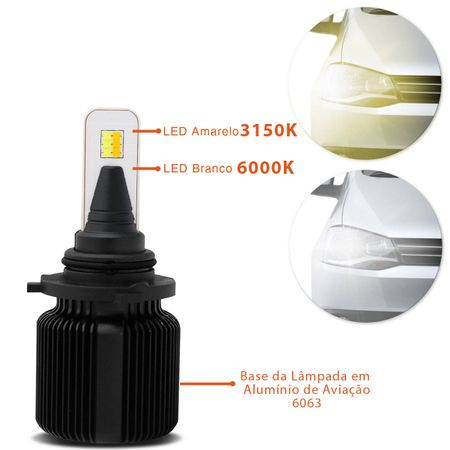 Kit-Lampadas-LED-HB4-9006-3150K-6000K-4000-Lumens-12V-25W-Headlight-Dual-Color-Luz-Branca-Shocklight-connectparts---3-