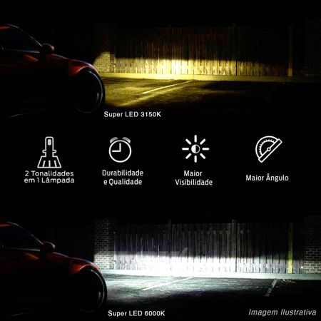 Kit-Lampadas-LED-HB4-9006-3150K-6000K-4000-Lumens-12V-25W-Headlight-Dual-Color-Luz-Branca-Shocklight-connectparts---4-
