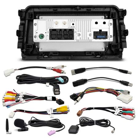 Central-Multimidia-Nissan-Kicks-17-a-19-Android-10-Pol-Touch-BT-GPS-WiFi---Camera-de-Re-Colorida-connectparts---4-