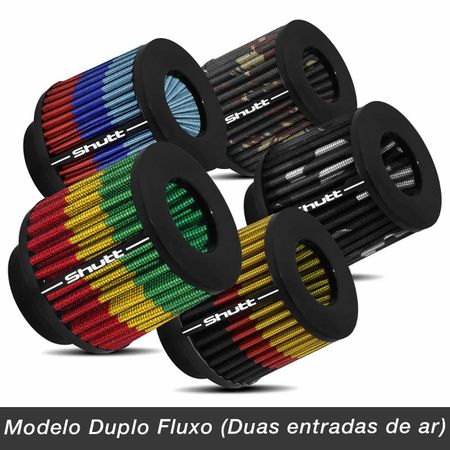 Filtro-de-Ar-Esportivo-Tunning-DuploFluxo-62mm-Conico-Lavavel-Especial-Shutt-Base-Borracha-Potencia-connectparts---2-