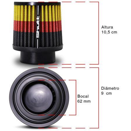 Filtro-de-Ar-Esportivo-Tunning-DuploFluxo-62mm-Conico-Lavavel-Especial-Shutt-Base-Borracha-Potencia-connectparts---3-