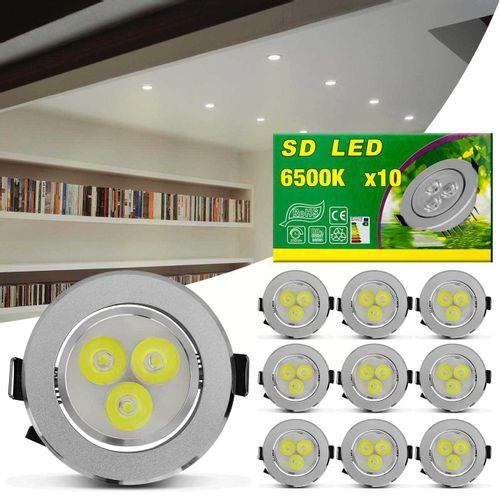 Kit-10-Spot-Super-LED-3W-Redonda-Direcionavel-Dicroica-6500K-Branca-Bivolt-Aluminio-Prata-Embutir-connectparts---1-