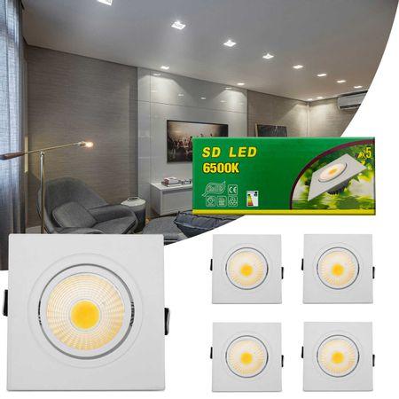 Kit-5-Spot-Super-LED-COB-3W-Quadrado-Direcionavel-Dicroica-6500K-Branca-Bivolt-Aluminio-Embutir-connectparts---1-