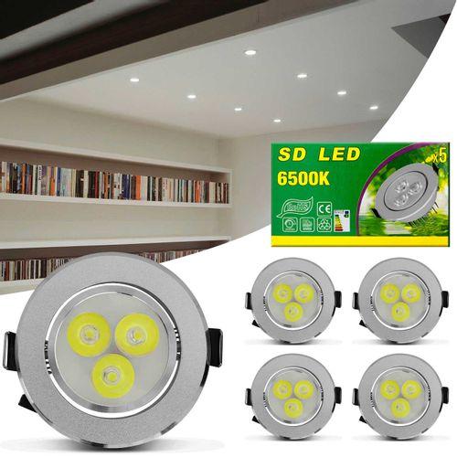 Kit-5-Spot-Super-LED-3W-Redonda-Direcionavel-Dicroica-6500K-Branca-Bivolt-Aluminio-Prata-Embutir-CONNECTPARTS---1-
