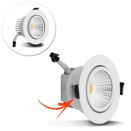 Kit-5-Spot-Super-LED-COB-5W-Redonda-Direcionavel-Dicroica-3500K-Amarelado-Bivolt-Aluminio-Teto-CONNECTPARTS---2-