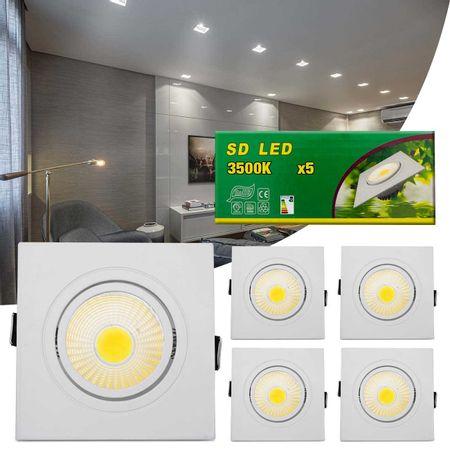 Kit-5-Spot-Super-LED-COB-7W-Quadrada-Direcionavel-Dicroica-3500K-Amarela-Bivolt-Aluminio-Embutir-connectparts---1-