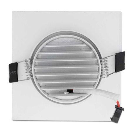Kit-5-Spot-Super-LED-COB-7W-Quadrada-Direcionavel-Dicroica-3500K-Amarela-Bivolt-Aluminio-Embutir-connectparts---3-