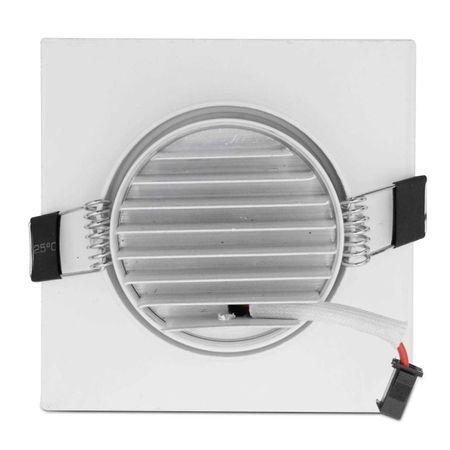 Kit-20-Spot-Super-LED-COB-7W-Quadrada-Direcionavel-Dicroica-3500K-Amarela-Bivolt-Aluminio-Embutir-connectparts---3-