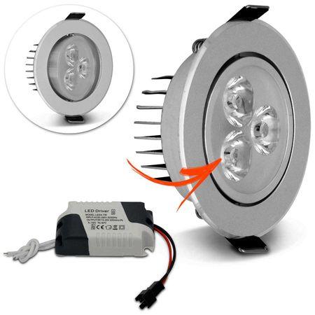 Kit-30-Spot-Super-LED-3W-Redonda-Direcionavel-Dicroica-6500K-Branca-Bivolt-Aluminio-Prata-Embutir-connectparts---2-
