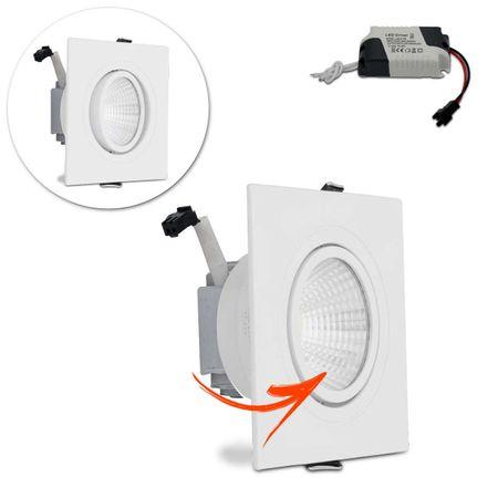 Kit-30-Spot-Super-LED-COB-7W-Quadrada-Direcionavel-Dicroica-3500K-Amarela-Bivolt-Aluminio-Embutir-connectparts---2-