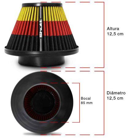 Filtro-de-Ar-Esportivo-Tunning-MonoFluxo-85mm-Conico-Lavavel-Especial-Shutt-Base-Maior-Potencia-connectparts---3-