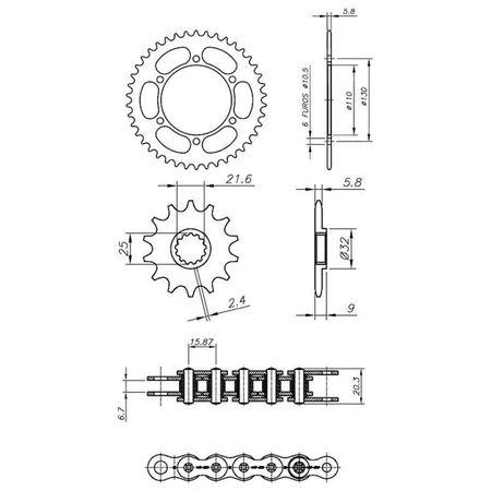 Kit-Relacao-Transmissao-Kawasaki-Ninja-250R-2009-2018-K02368X-Xtreme-connectparts---3-