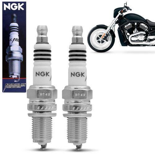 Kit-Jogo-2-Velas-de-Ignicao-Iridium-NGK-Harley-Davidson-V---Rod-02-a-05-DCPR8EIX-connectparts---1-