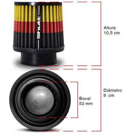 Filtro-de-Ar-Esportivo-Tunning-DuploFluxo-52mm-Conico-Lavavel-Especial-Shutt-Base-Maior-Potencia-connectparts--3-