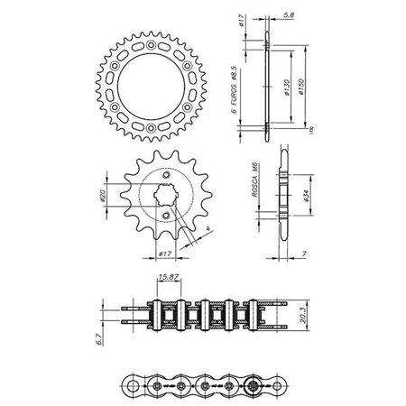 Kit-Relacao-Transmissao-Honda-XLX250-1984-A-1993-H02495X-Xtreme-connectparts--3-