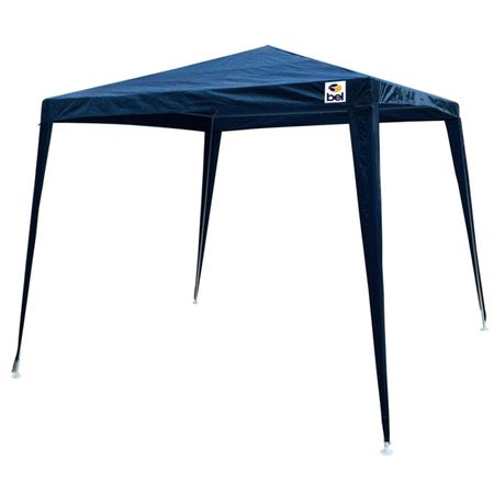 Tenda-Gazebo-Montavel-3X3-Aco-Pintura-Epoxy-Polietileno-Azul-connectparts