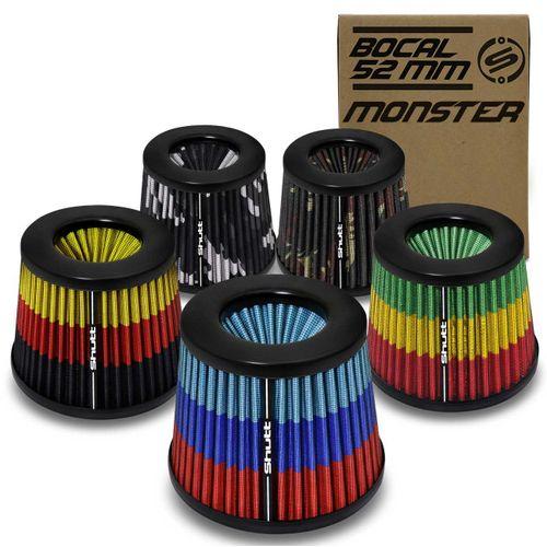 Filtro-de-Ar-Esportivo-Tunning-DuploFluxo-Monster-52mm-Conico-Lavavel-Especial-Shutt-Maior-Potencia-connectparts--1-