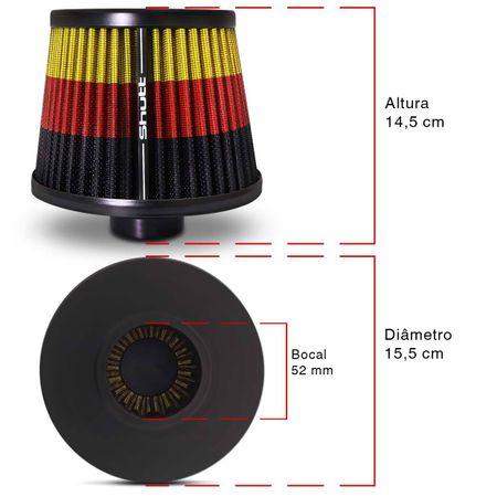 Filtro-de-Ar-Esportivo-Tunning-DuploFluxo-Monster-52mm-Conico-Lavavel-Especial-Shutt-Maior-Potencia-connectparts--3-
