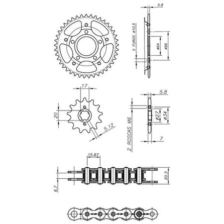 Kit-Relacao-Transmissao-Honda-XR200-1995-A-2003-H02667X-Xtreme-connectparts---3-
