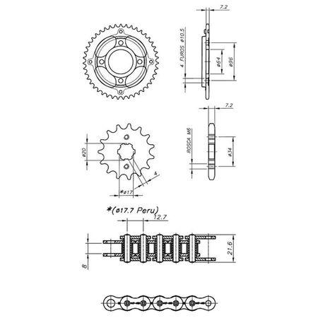 Kit-Relacao-Transmissao-Honda-CG125KS-ES-Titan-2000-A-2005-Temperada-Preta-H01196X-Xtreme-connectparts---3-