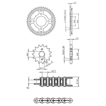 Kit-Completo-CCP-Xtreme-HONDA-CG150-TITAN-SPORT-2005-A-2008-H03802X-XTREME-CONNECTPARTS---3-