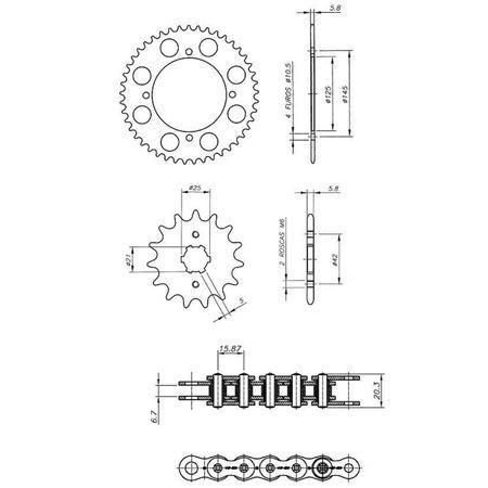 Kit-Relacao-Transmissao-Yamaha-XV250-Virago-1989-A-2008-Y01457X-Xtreme-connectparts---3-