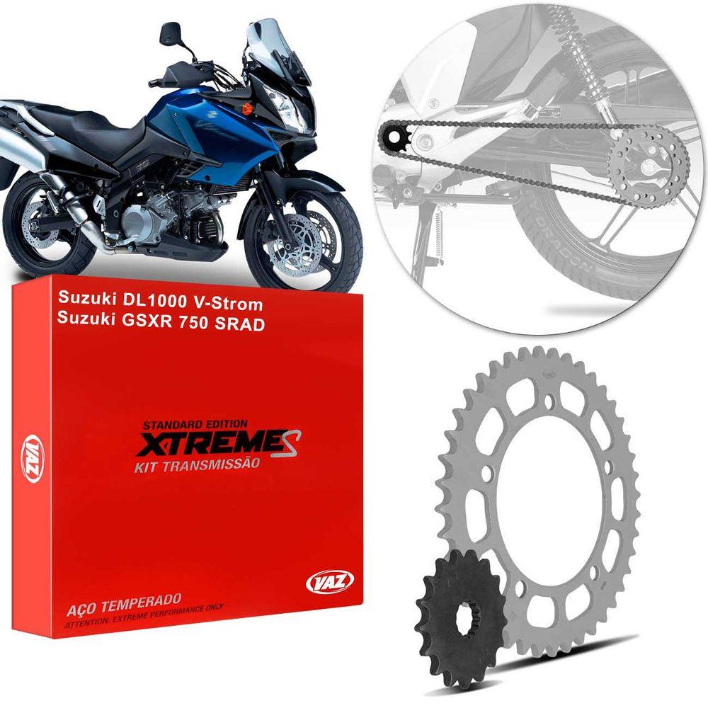 Kit Relação Transmissão Suzuki DL 1000 V-Strom 2002 a 2008 GSXR 750 SRAD  2000 a 2003 Xtreme SCP0007T