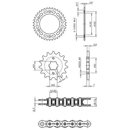 Kit-Relacao-Transmissao-Honda-XLR250-1994-A-1994-H02366X-Xtreme-connectparts---3-
