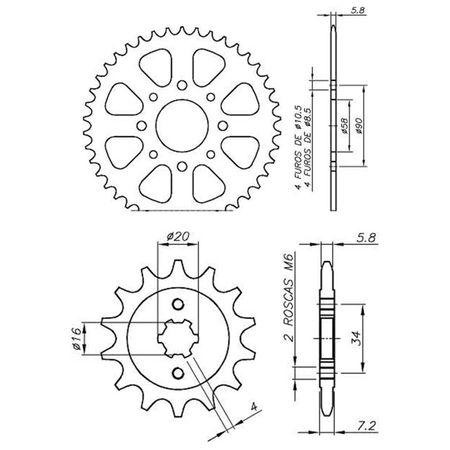 Kit-Coroa-Pinhao-KTM-Duke200-2012-A-2014-DCP0029T-Vaz-connectparts---3-