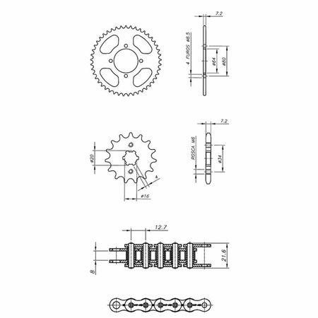 Kit-Relacao-Transmissao-Yamaha-YBR125-2000-A-2002-Y01482X-Xtreme-connectparts---3-