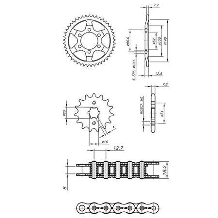 Kit-Relacao-Transmissao-Yamaha-TDM225-1997-A-2000-Y00521X-Xtreme-connectparts---3-