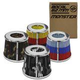 Filtro-de-Ar-Esportivo-Tunning-DuploFluxo-Monster-62mm-Conico-Lavavel-Especial-Shutt-Base-Cromada-connectparts---1-